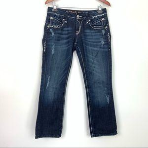 Rock Revival Jeans Stephanie Easy Capri